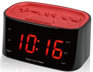 "1.2"" DISPLAY CLOCK RADIO DUAL ALARM"