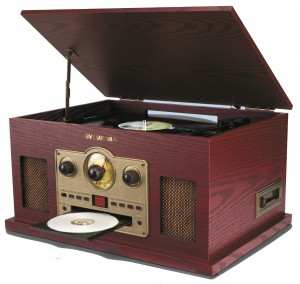 NOSTALGIA 5  IN 1 TURNTABLE RADIO